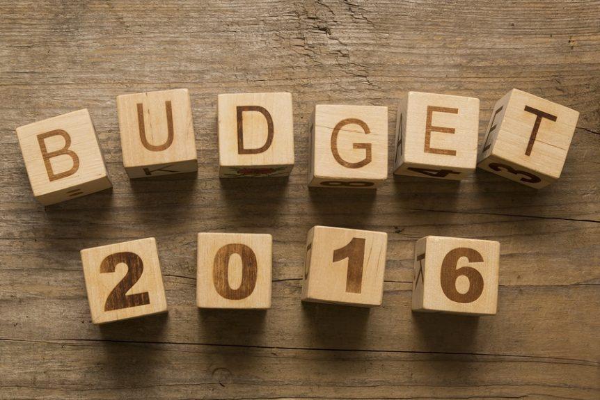 Budget 2016 concept
