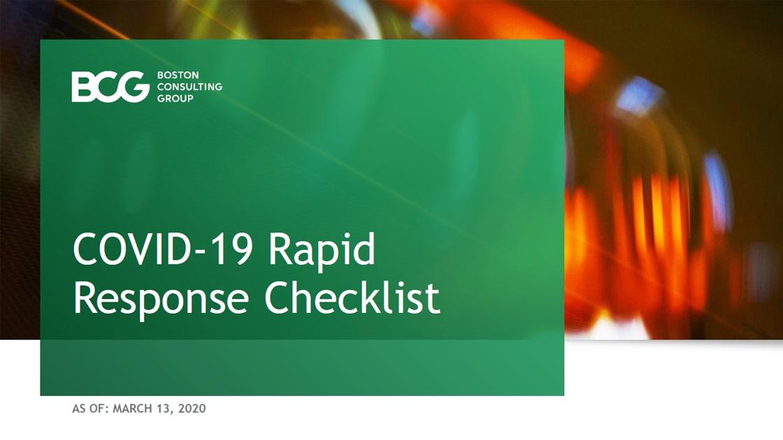 Covid-19 Rapid Response Checklist